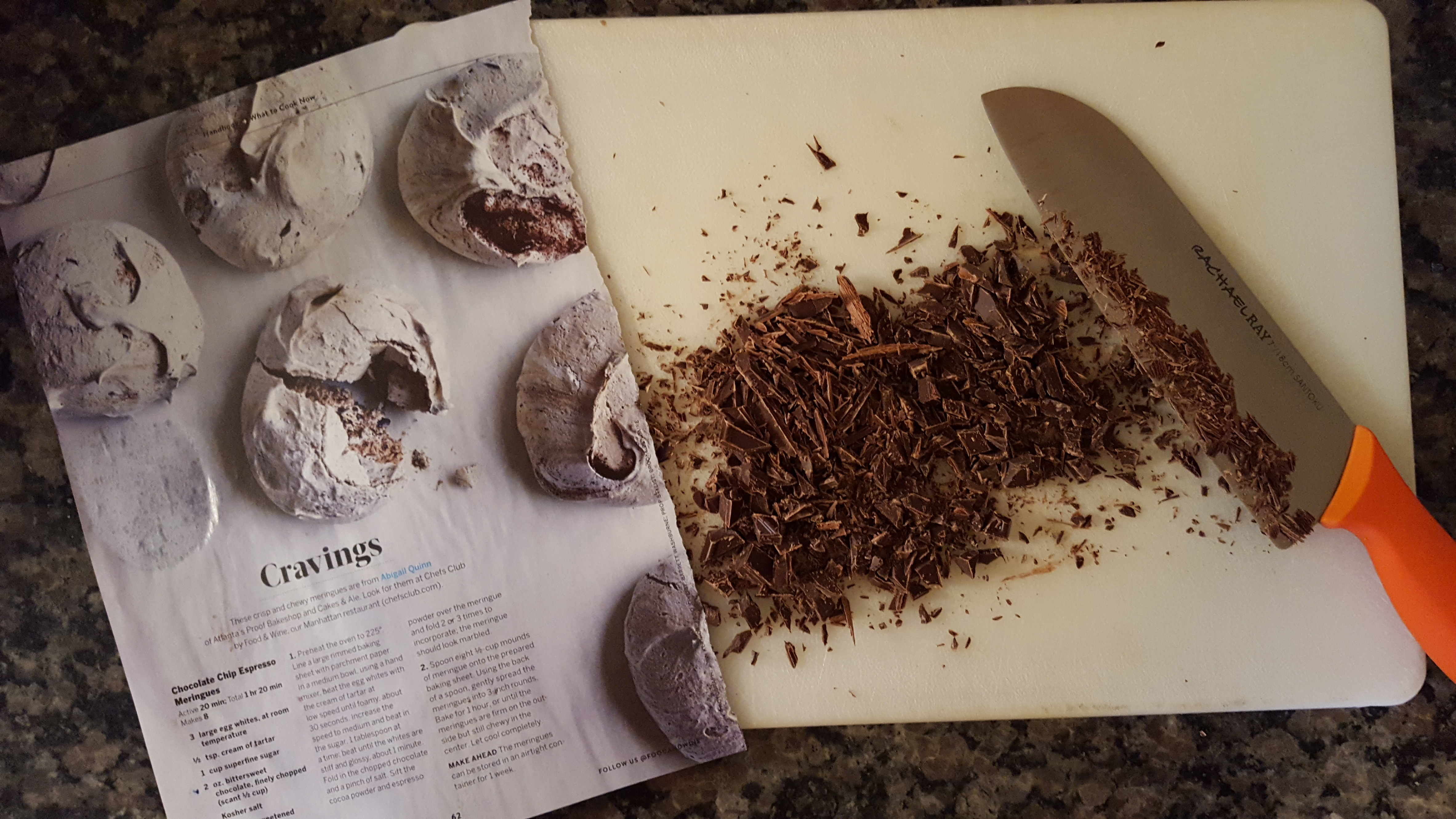 recipe for chocolate meringues
